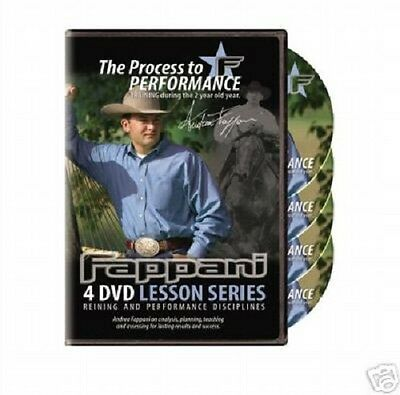 NEW ANDREA FAPPANI REINING The Process to Performance Horse Training DVD set, used for sale  Springfield