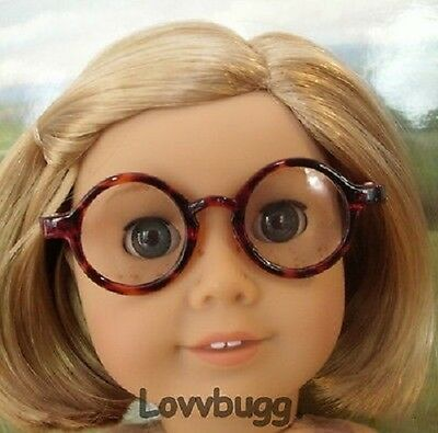 "Lovvbugg Brown Tortoise Eye Glasses for 18"" American Girl Doll Accessory"