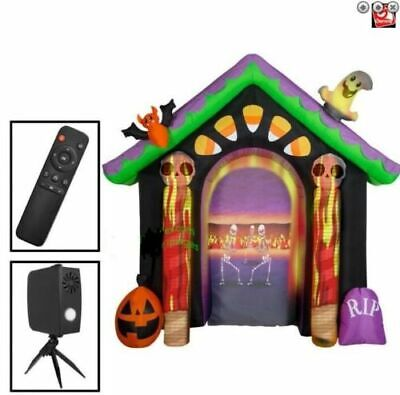 9 Ft. Wide Halloween Archway Living Projection Airblown Inflatable With Remote