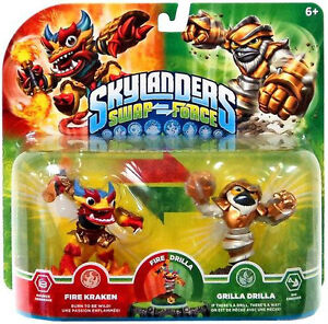 NEW Skylanders Swap Force (Swap-Able) Fire Kraken & Grilla