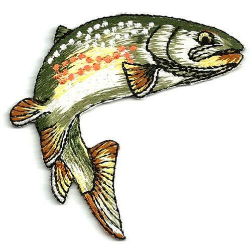 Embroidered fishing patches ebay
