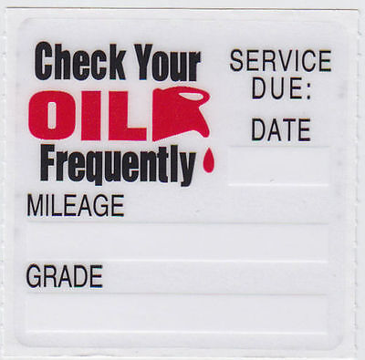 *30* Oil Change Reminder Sticker Static Cling Decal *Free Shipping* Get 5 FREE**