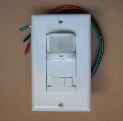 Occupancy 120v Wall Decora Motion Sensor Detector Switch White - No Neutral Wire