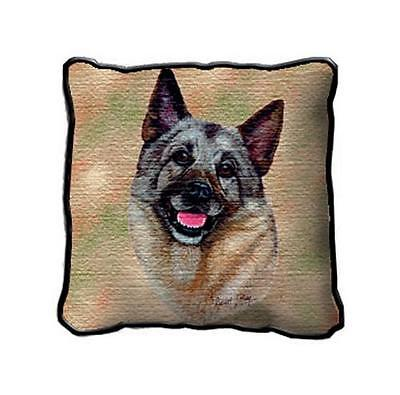 "17"" x 17"" Pillow - Norwegian Elkhound by Robert May 1944"