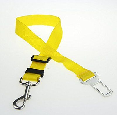 2x Yellow Dog Pet Puppy Safety Seatbelt for Car Vehicle Seat Belt Harness Lead