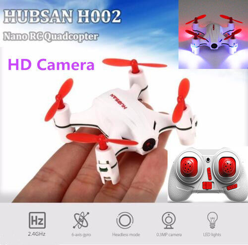 Hubsan H002 Q4 Mini RC Quadcopter 2.4G 4CH 480P HD Camera LED Toys Drone, in USA