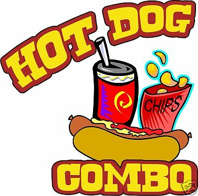 Concession Hot Dogs Hot Dog Cart Food Truck Vinyl Sign Sticker Decal 10