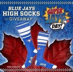 2017 NEW TORONTO BLUE JAYS HIGH SOCKS SGA AUGUST 13 GIVEAWAY