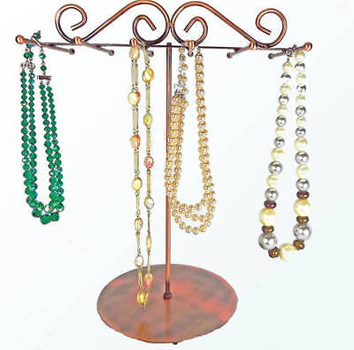 Copper 6 Bar Necklace Metal Display Stand Jewelry Necklaces