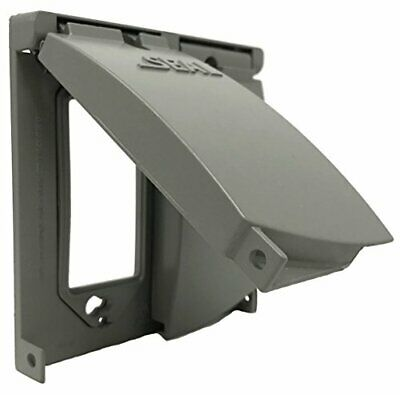 2-gang Outdoor Weatherproof Metal Flat Electrical Outlet Receptacle Box Cover