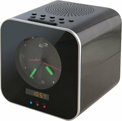 iLive - Bluetooth Speaker with Clock Alarm FM Audio Input Sleep Timer