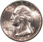 Silver Washington Quarters Gem BU
