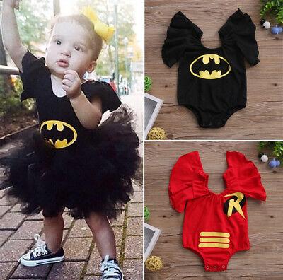 USA Newborn Kids Baby Girls Cartoon Bodysuit Romper Jumpsuit Outfit Clothes 0-3T