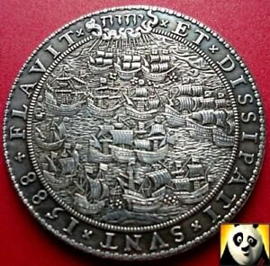 1588 Defeat of the Spanish Armada Duke of Medina Large 50mm Naval Coin Medal
