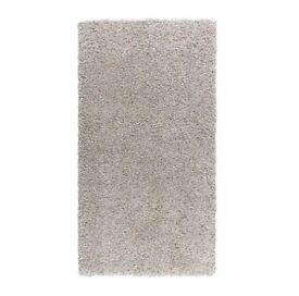Ikea Alhede Rug 80cms x 150cms Light Grey Shag Pile