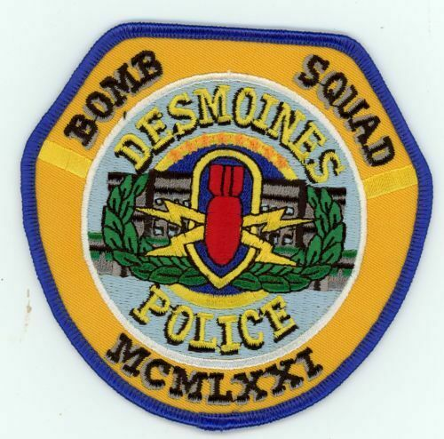 IOWA IA DES MOINES POLICE BOMB SQUAD NEW SHOULDER PATCH SHERIFF