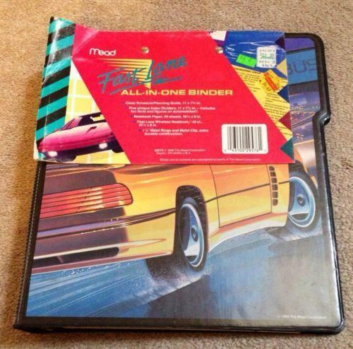 Mead binder ebay for Trapper keeper 2 sewn binder with exterior storage
