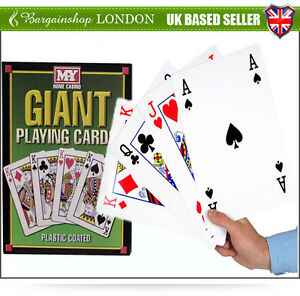A4 Giant Jumbo Playing Cards Deck Outdoor Garden 28cm Family Party BBQ Game