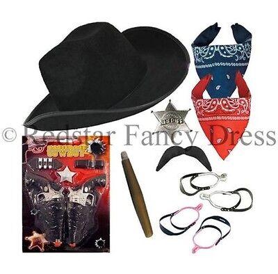 Erwachsene Cowboy Kostüm Instant Cowboy West Hut Kopftuch Junggesellenabschied