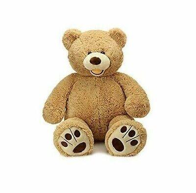 Morismos Giant Teddy Bear w/ Big Footprints Stuffed Light Brown (Vacuum Sealed)