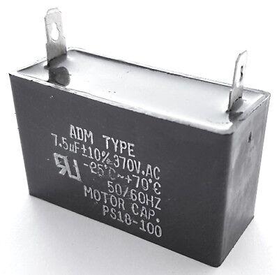 Motor Run Capacitor Metallized Polyester 7.5uf 370vac 10 Adm370a755k 1 Pc