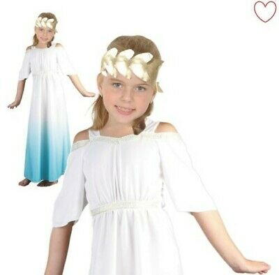 Mädchen Toga Römische Göttin Kostüm Grichischer Buchwoche Outfit