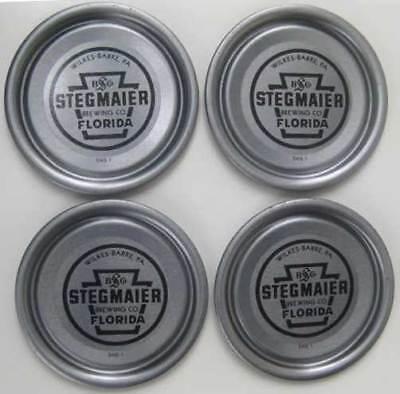 4 Stegmaier Brewing Co  Florida Beer Can Vanity Lids  Wilkes Barre  Pennsylvania