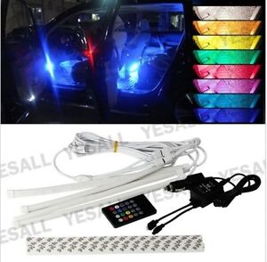 7 Color RGB Wireless Sound Music  LED Strip Lights Underglow kit