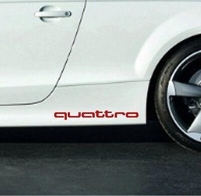 Audi QUATTRO A3 A4 A5 A6 A8 S4 S5 S6 RS4 Q3 Q5 Q7 TT Decal sticker emblem logo R