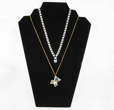 Three Black Velvet Necklace Pendant Easel Display Stands Stand Displays