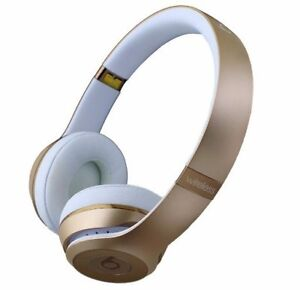 Beats Solo3 Wireless On-Ear Headphones - Gold-silver and red