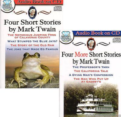 8 Mark Twain Short Stories Audio Books on 2x CDs Classic American Comedy - NEW