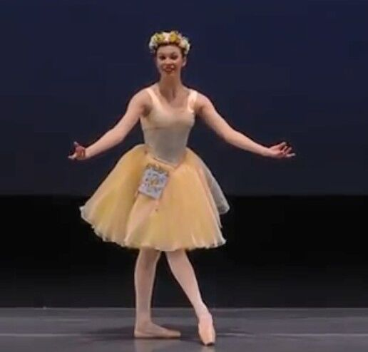 Raymonda Pizzicato Variation Ballet Costume, Romantic Tutu in Yellow & Pale Blue