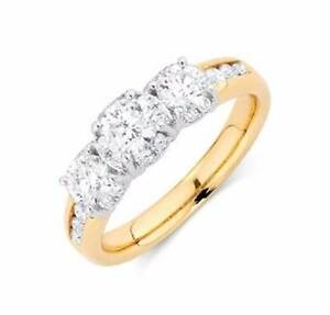 Gold Diamond Engagement Ring (RRP: $4,799) Scarborough Stirling Area Preview
