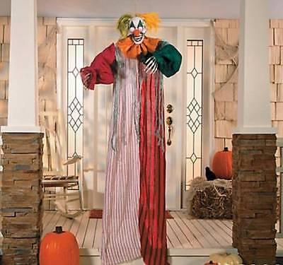 Halloween Party Haunted House Decor LED Hanging Creepy Clown w/ Flashing Eyes