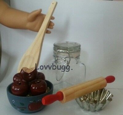 "Lovvbugg Apples Canning Day  for 18"" American Girl Doll Food Accessory"