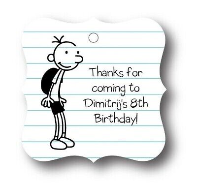 Personalized Kids Party Favors (24 Diary of a Wimpy Kid Personalized Birthday Party Favor)
