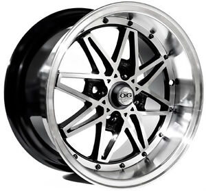 15x8 Axis OG Old Skool black 4x100 ED NA6 NA8 FWD AE92 Dish JDM Shadow chrome