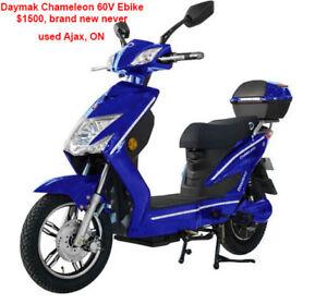 Daymak Chameleon 60V Ebike (Blue) brand new, never used