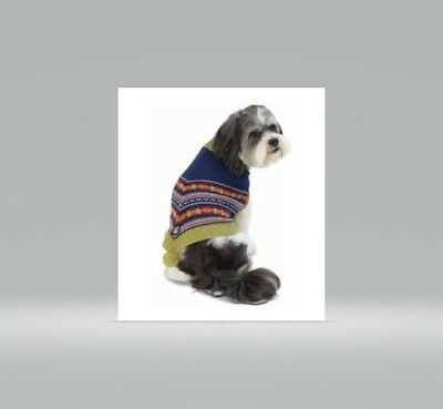 Petrageous LUNAS Bohemian Dog Pet Poncho Sweater Coat Knit Pom Pom Misc Sizes - Poncho Dog