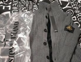 Brand New Stone Island XL Woollen Cardigan