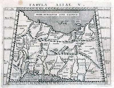 Antique map, Tabula Asiae V