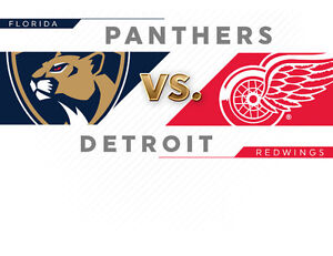 Florida Panthers at Detroit Red Wings -Sun Oct 30- MAKE OFFER