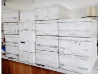 15 large used polystyrene cool boxes - about 65cm long, 40cm wide and 28 high @ 50p. New lids