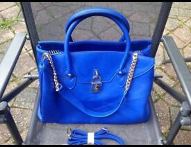 Stunning- designer Just Fab large blue handbag- £10 collect po15