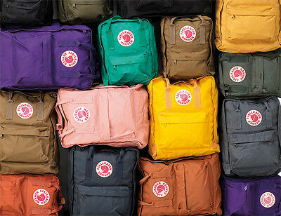 FJALLRAVEN KANKEN BACKPACK'S STYLE No 23510 15 x 10.6 x 5.1 Regular 16L NEW