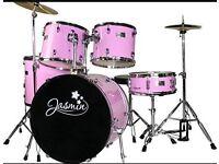 Junior drum kit pink