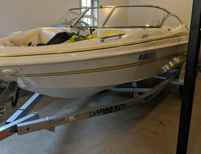 2004 Glastron SX 175 Bowrider Boat - Volvo Penta 135hp low engine hours trailer