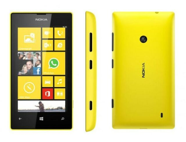 Original Unlocked Nokia Lumia 520 8GB Smartphone Windows Phone 8 5MP Yellow