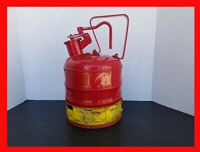 Justrite Mfg. Safety Can 1 One Gallon Gas Can Handle Dispenser - Very Nice
